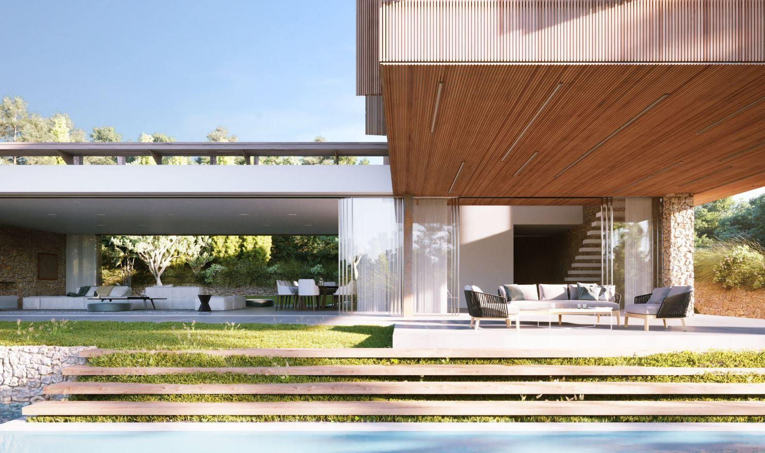 Urban plot with project and license in Ibiza